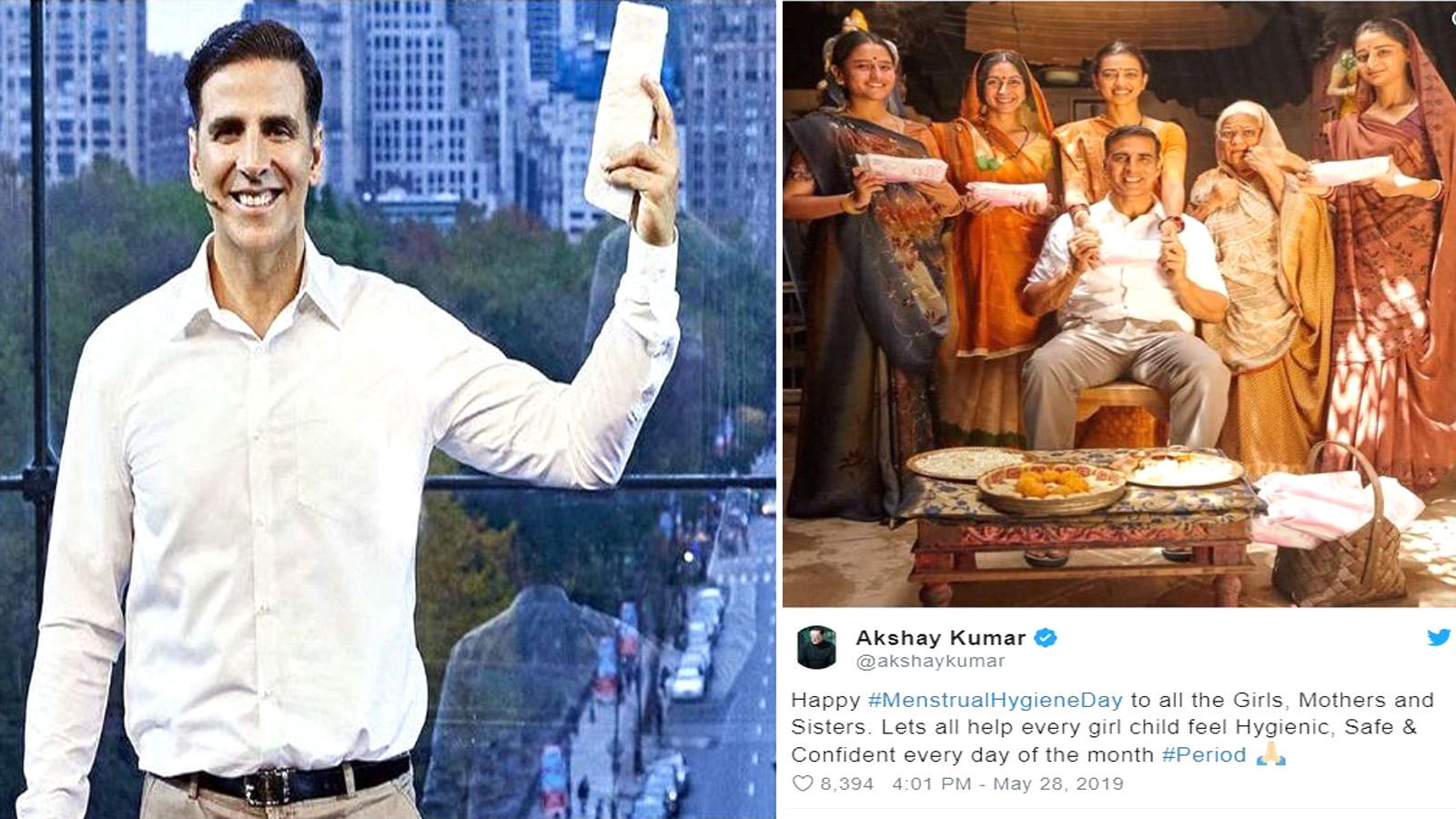 World Menstrual Hygiene Day: Akshay Kumar shares a beautiful message