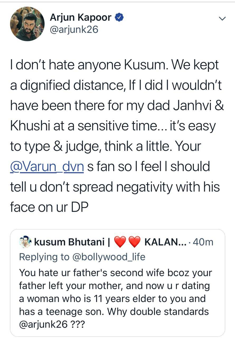 Arjun Kapoor gives a befitting reply to a troll for questioning his
