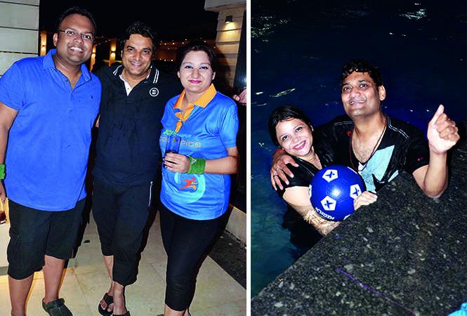 (L) Divyansh Agarwal, Deepak Gupta and Stuti Gupta (R) Nisha and Ajeet Omer (BCCL/ IB Singh)