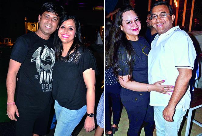(L) Nitin Jaiswal and Neha Jaiswal (R) Shalu and Meherdeep Chaurasia (BCCL/ IB Singh)
