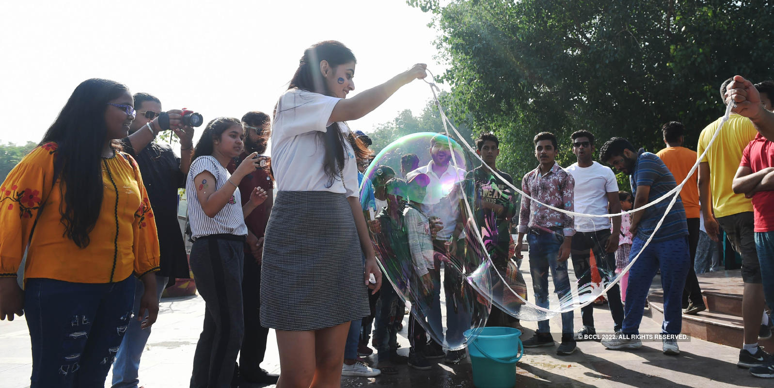 Delhiite participate in 'The Bubble Parade' to break silence around child sexual abuse