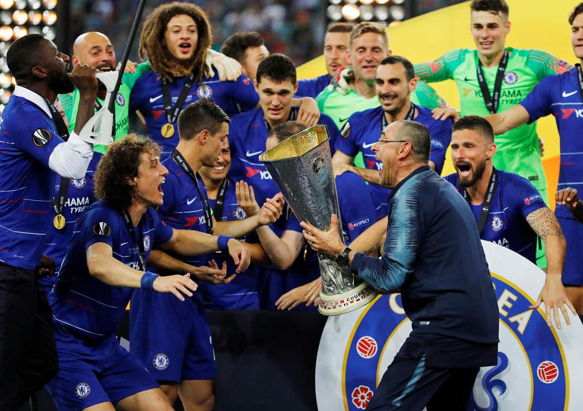 Chelsea beat Arsenal 4-1 in Europa League final