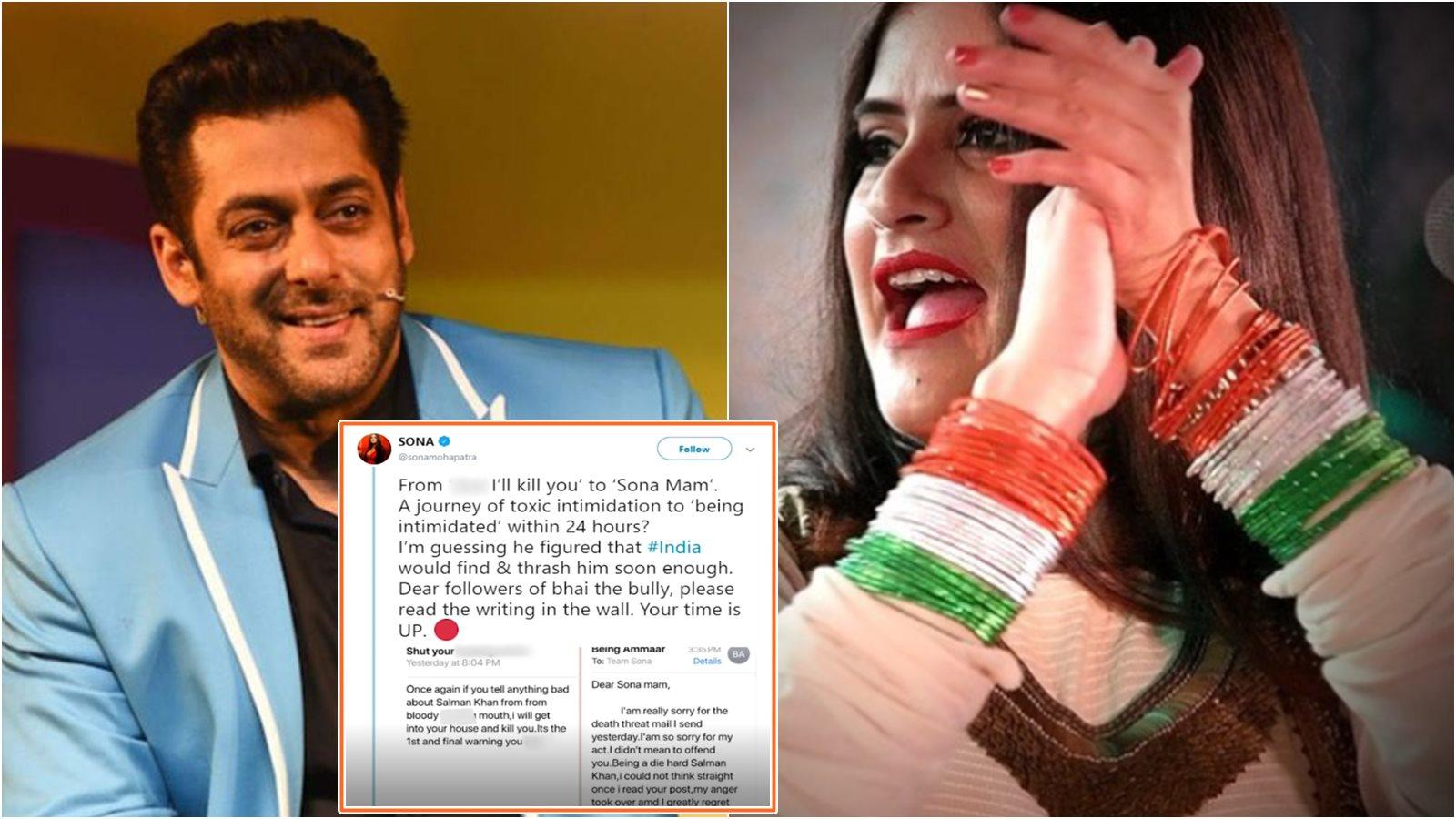 From I'll kill you to 'Sona Mam': Sona Mohapatra shares apology by Salman Khan fan who sent her death threat