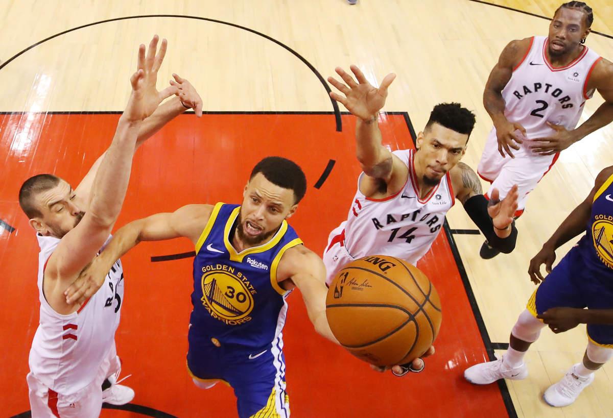 Raptors win 118-109 against Warriors in Game one of NBA finals