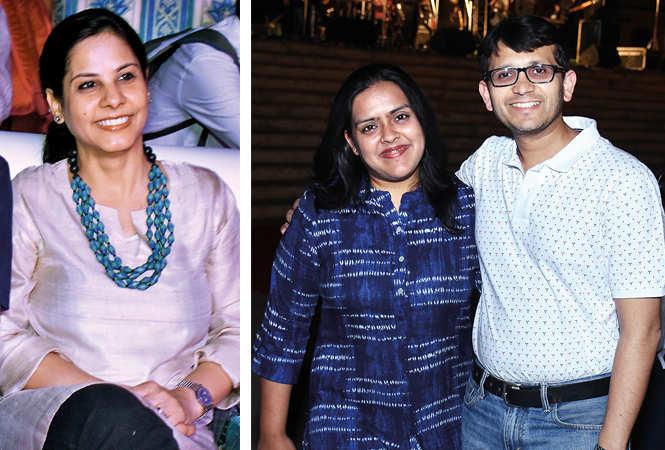 (L) Jasmine (R) Vasudha and Gaurav Jain (BCCL/ Vishnu Jaiswal)