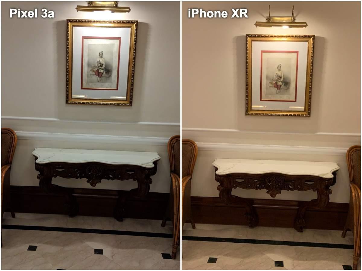 Pixel 3a vs iPhone XR camera: Low light (indoors)