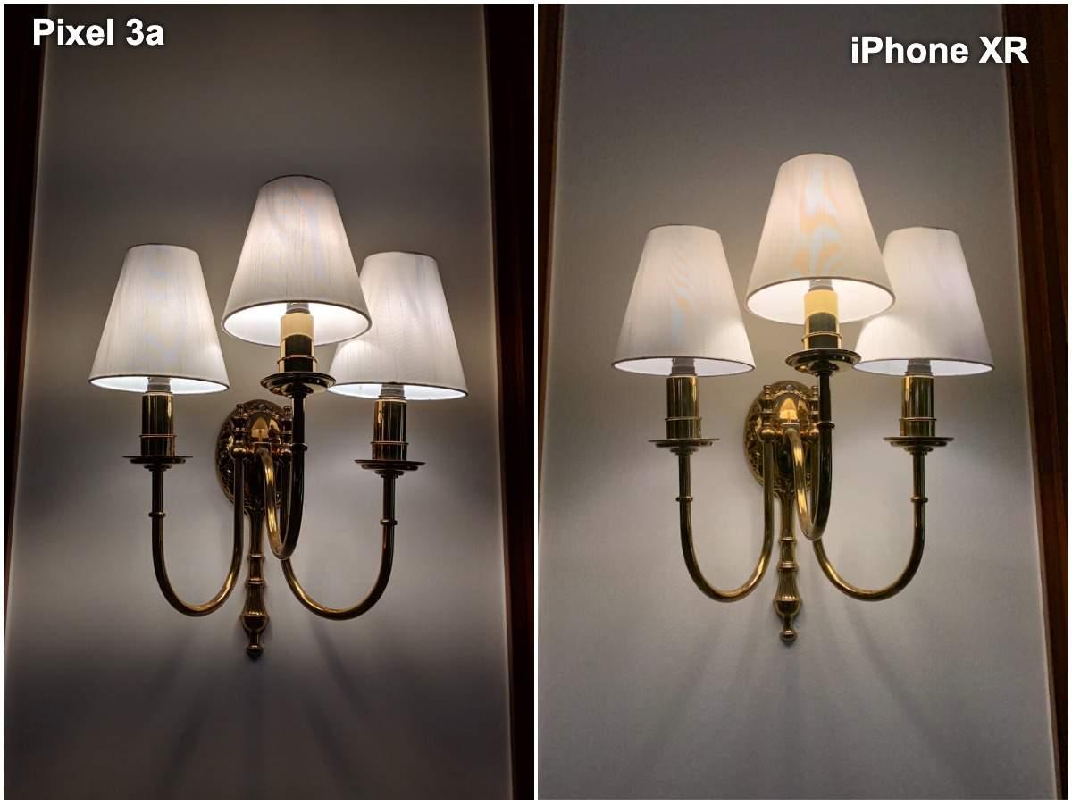 Pixel 3a vs iPhone XR camera: Indoor light focus