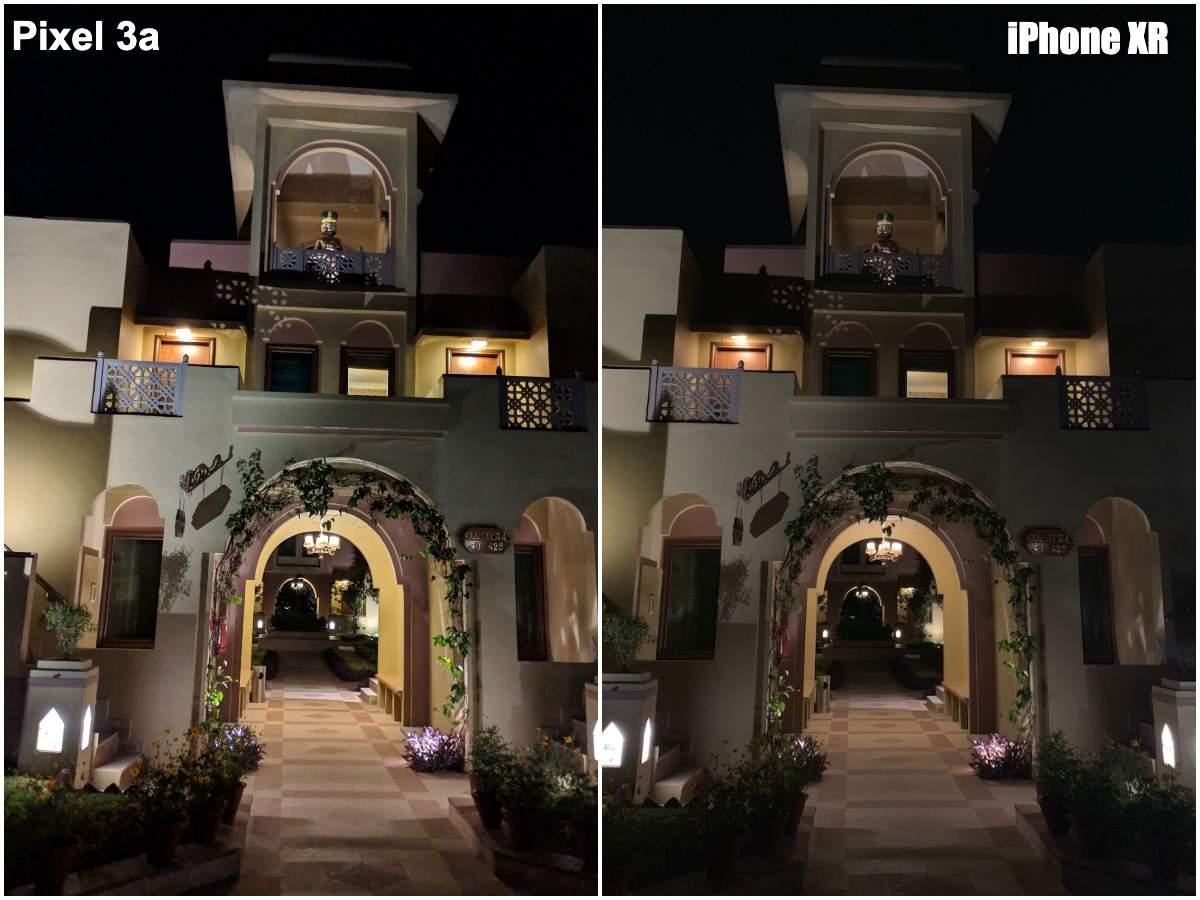 Pixel 3a vs iPhone XR camera: Low light shot in darkness