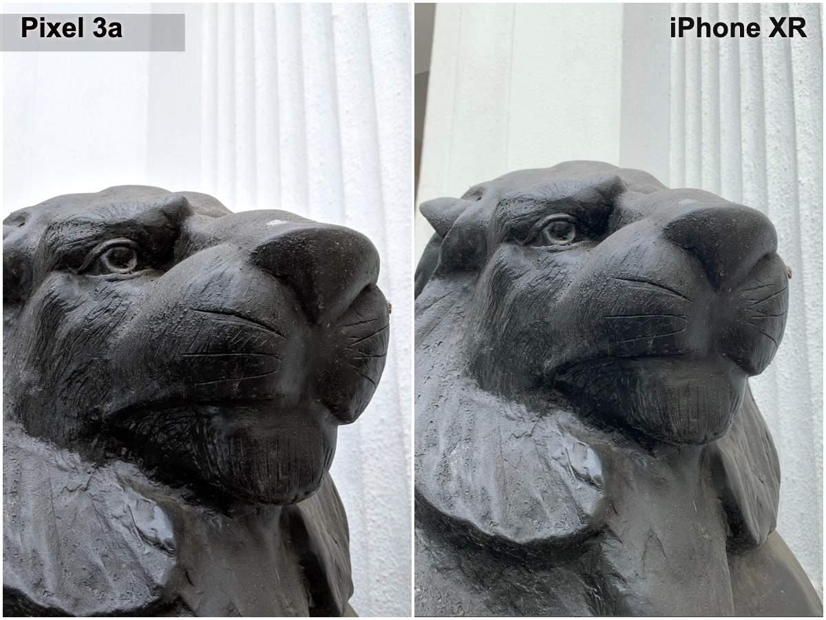Pixel 3a vs iPhone XR camera: Daylight closeup image