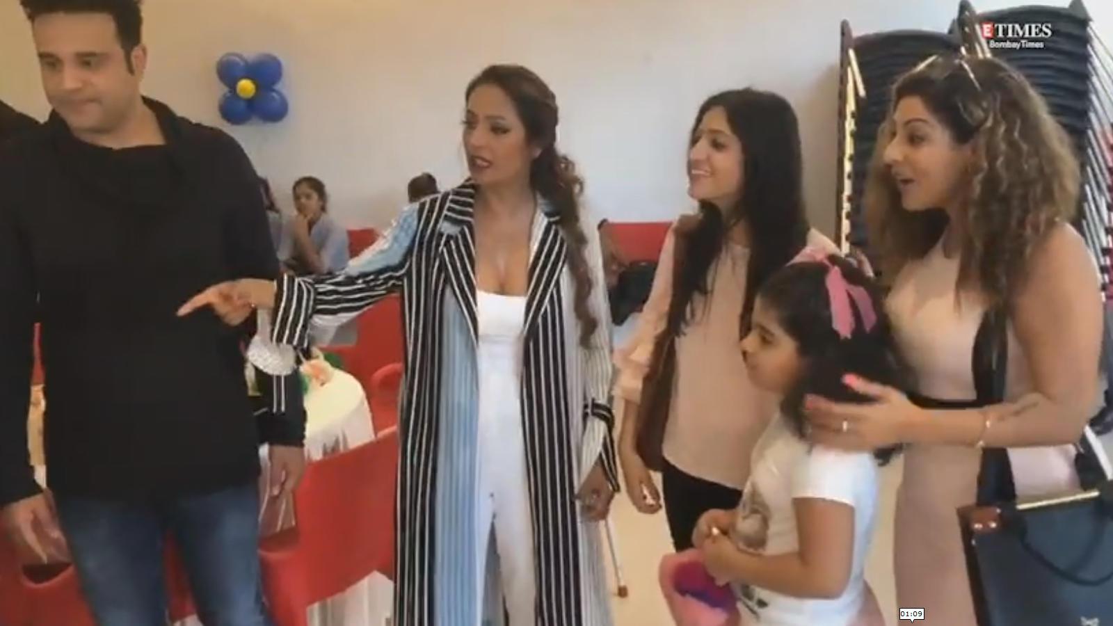 Watch: Krushna Abhishek and Kashmera Shah's twin sons' birthday bash