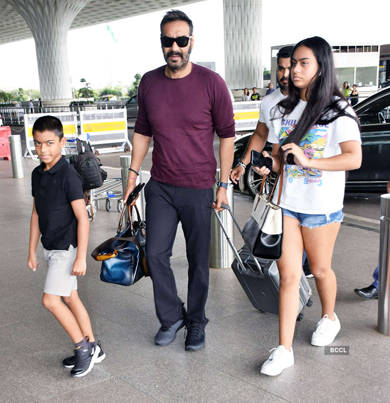 Ajay Devgn with children