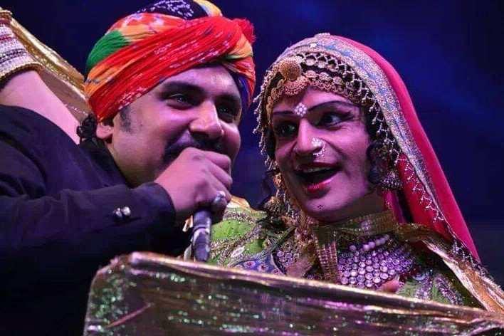 Queen Harish with Kutle Khan