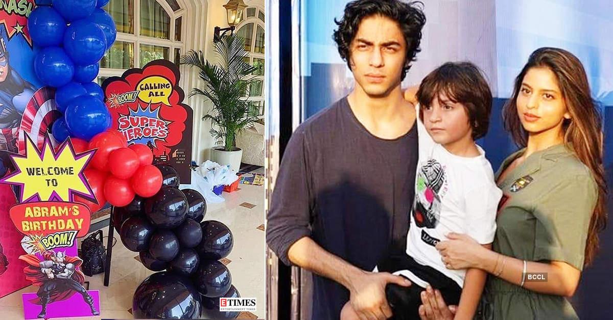Shah Rukh Khan's kids Aryan, Suhana had fun at AbRam's birthday party, see new pics