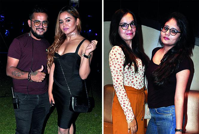 (L) Lohit Singh and Priya Chaddha (R) Mamta Pandet and Riya Pandey (BCCL/ AS Rathor)