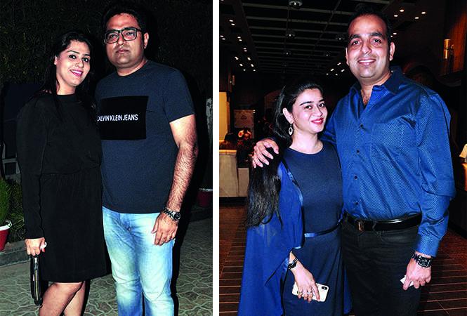 (L) Manisha and Gautam Bhatia (R) Neha Agarwal and Nitin Agarwal (BCCL/ AS Rathor)