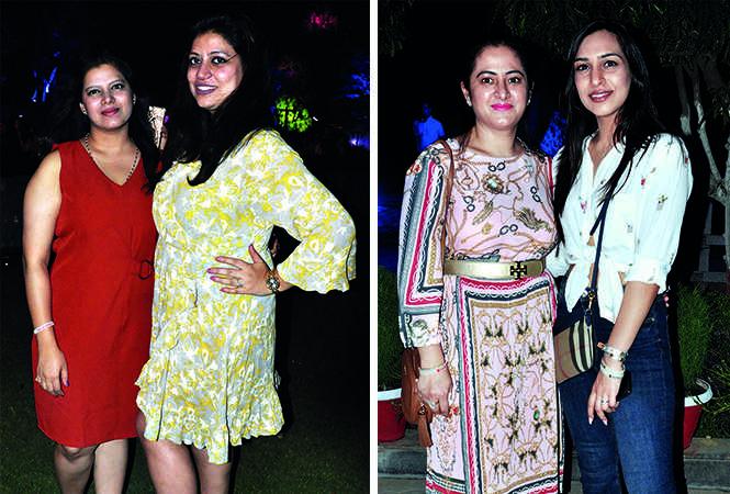 (L) Neha Ahuja and Kanika Gupta (R) Radhika and Jyoti (BCCL/ AS Rathor)