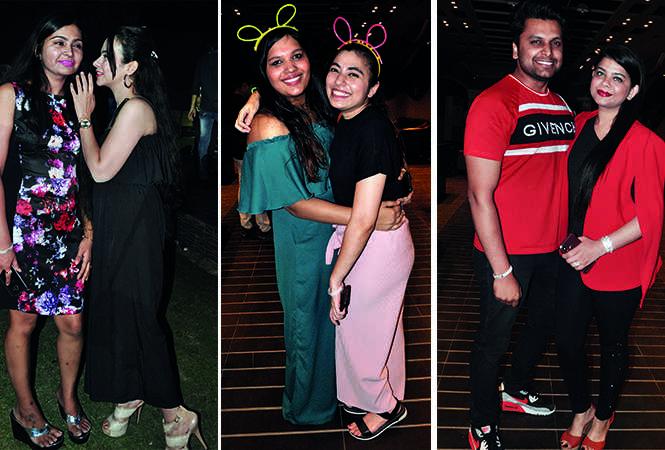 (L) Shikha Bodani and Tina Madhyan (C) Siddhima and Somya (R) Virat Yadav and Adya Yadav (BCCL/ AS Rathor)