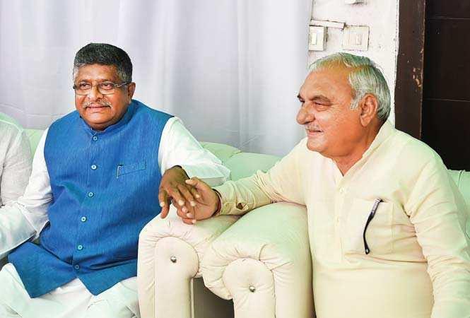 Ravi Shankar Prasad  and Bhupinder  Singh Hooda
