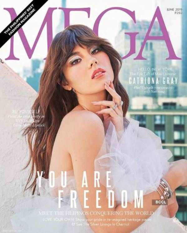 Catriona Gray sizzles on the cover of Mega Magazine