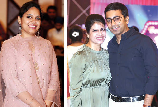 (L) Tanya Sahni (R) Aarushi and Deepesh (BCCL/ Aditya Yadav)