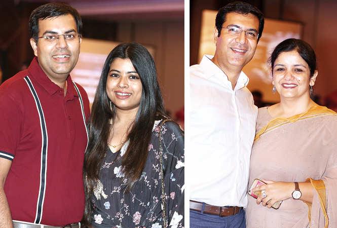 (L) Mayank and Radhika (R) Sachin and Simran Sahni (BCCL/ Aditya Yadav)
