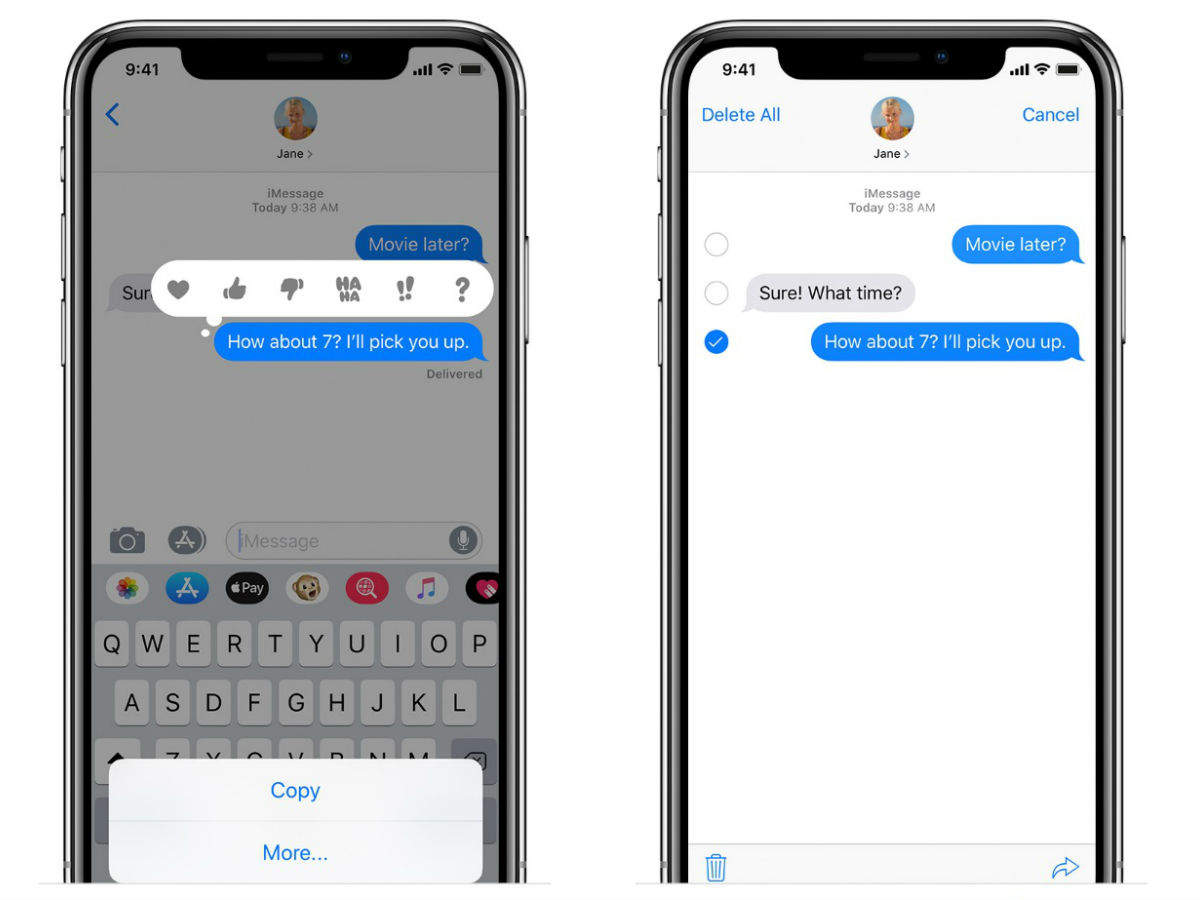 Search suggestions in text Messages