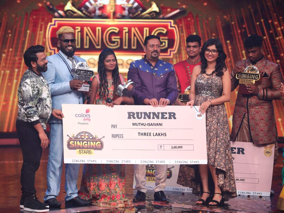 Gana rockstars Muthu and Isaivani stood as the runner-up