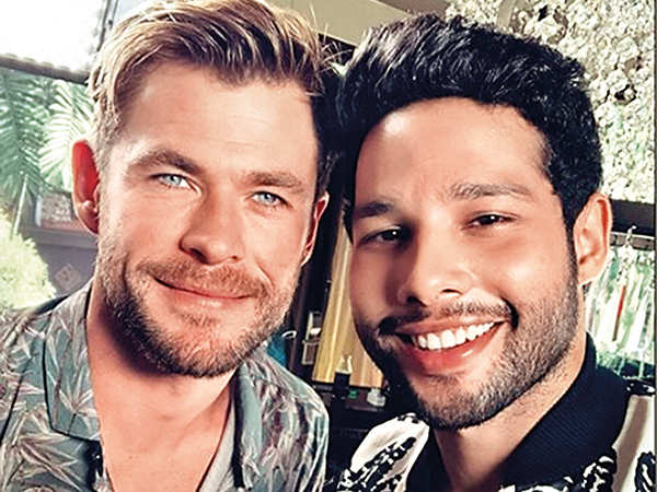 Chris Hemsworth and Siddhant Chaturvedi