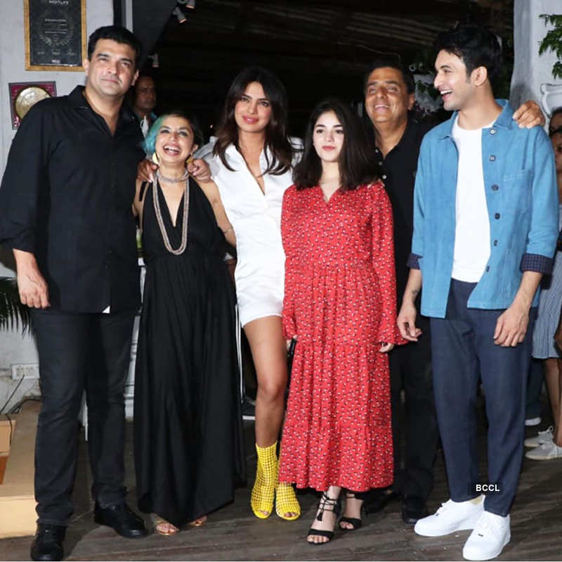 Stylish pictures of Priyanka Chopra from 'The Sky is Pink' wrap-up party