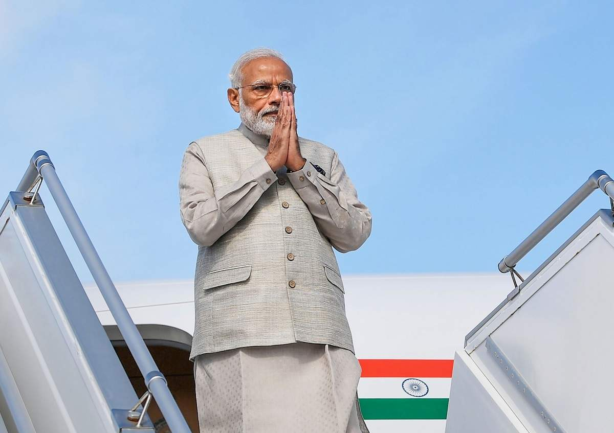 Image result for PM <a class='inner-topic-link' href='/search/topic?searchType=search&searchTerm=MODI' target='_blank' title='click here to read more about MODI'></div>modi</a>'s VVIP Aircraft to fly on the way to SCO summit in Bishkek