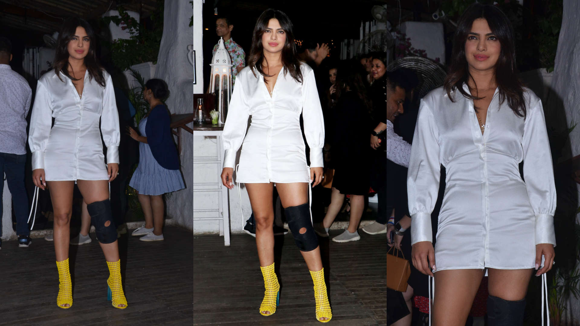 Priyanka Chopra proves white is right at the wrap up bash of The Sky is Pink