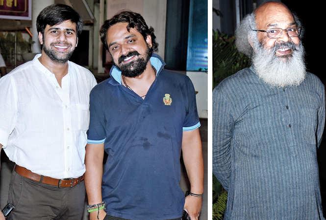 (L) Raj Vardhan and Nitish Bharadwaj (R) Surya Mohan (BCCL/ Vishnu Jaiswal)