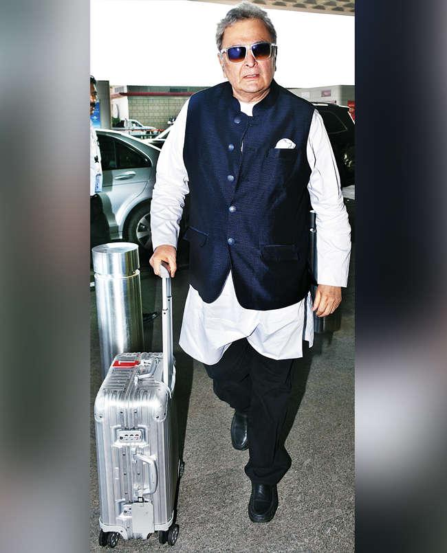 Rishi Kapoor at Mumbai airport in September 2018