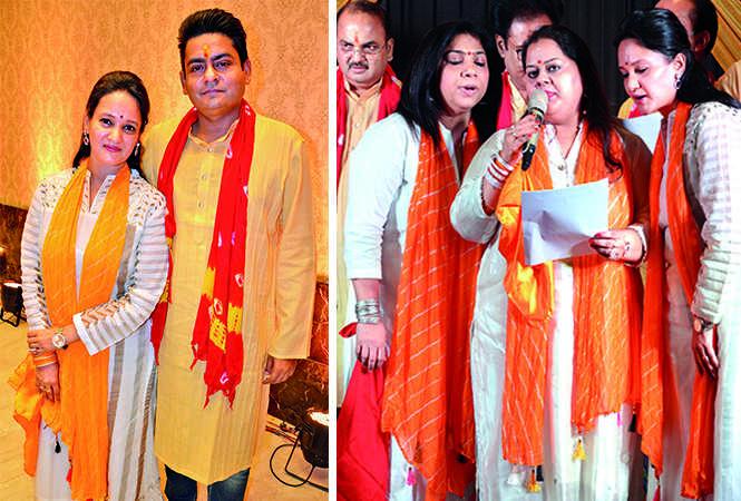 (L) Ankita Garg, Amit Garg (2) (R) Ankur Singh, Divya, Ankita Garg (4) (BCCL/ IB Singh)
