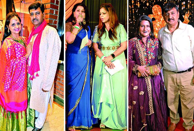 (L) Rachna Agarwal and Atul Agarwal (C) Ritika Katiyar and Poonam Moorjani (R) Sarika Arora and Deepak Arora (BCCL/ IB Singh)