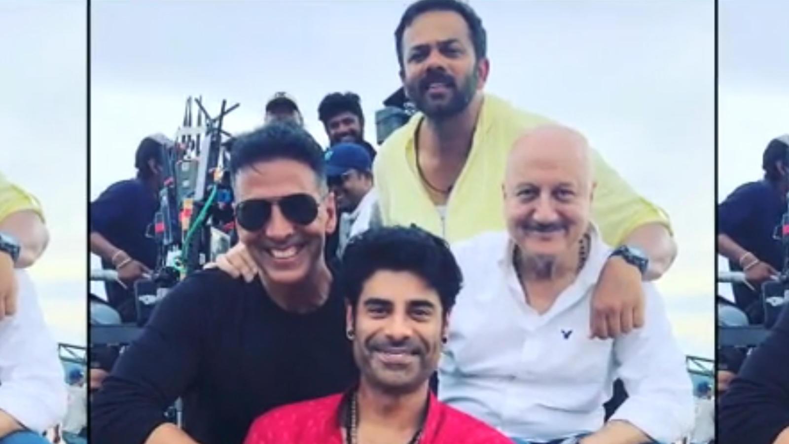 Akshay Kumar, Rohit Shetty shoot 'Sooryavanshi' with Anupam Kher's son Sikandar