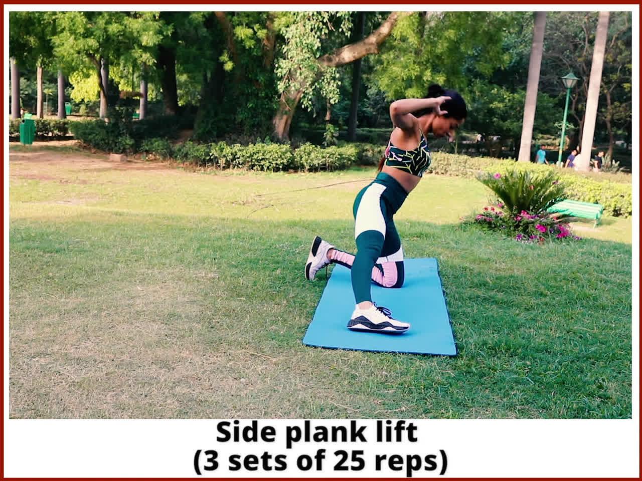 Side plank lift