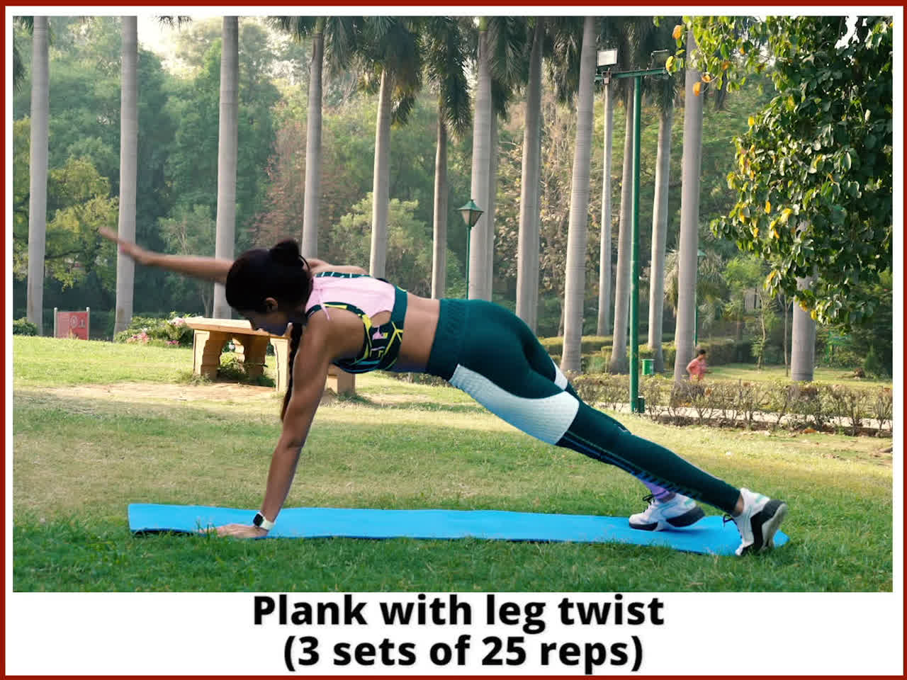 Plank with leg twist