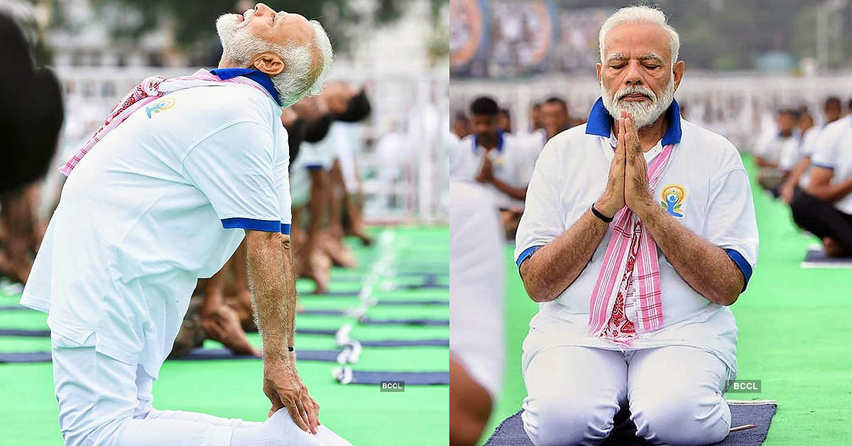 Best pictures from International Yoga Day 2019 as Modi performs asanas