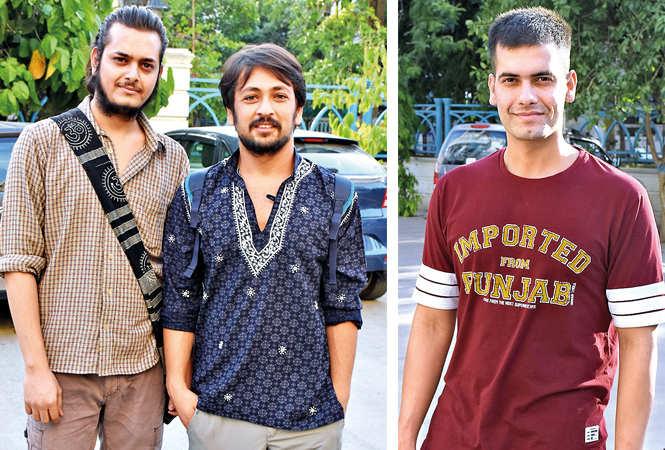 (L) Anuj Nigam and Vinay Mishra (R) Dishant Gulliya (BCCL/ Vishnu Jaiswal)