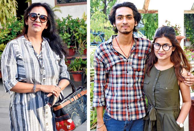 (L) Gunjan (R) Vibhu Kaushik and Shreya Ranjan (BCCL/ Vishnu Jaiswal)