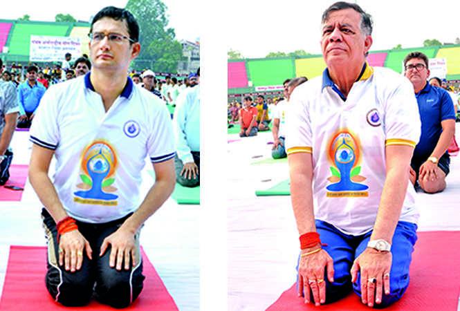 (L) Vijay Vishwas Pant (R) Satish Mahana (BCCL/ AS Rathor and IB Singh)