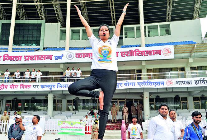 Yoga guru Vibha Gupta (BCCL/ AS Rathor and IB Singh)