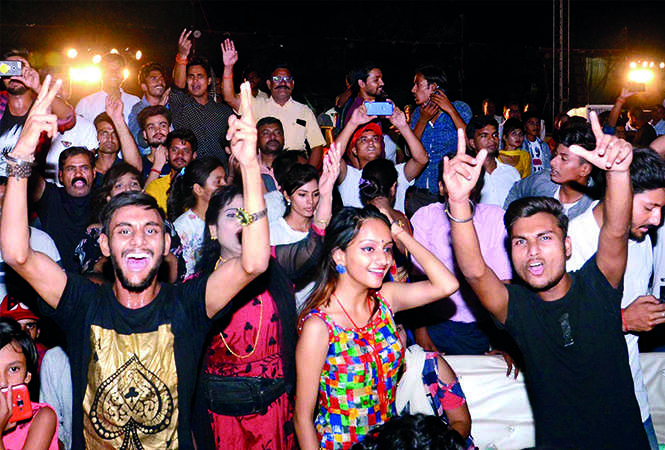 ALL KICKED UP! The crowd had an entertaining time at this event (BCCL/ Pankaj Singh)