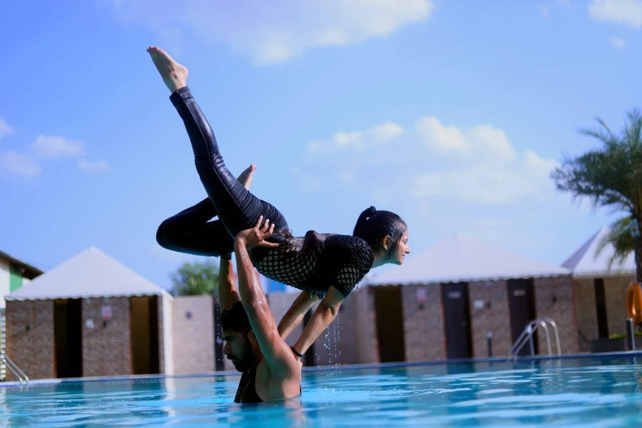Acro and aqua yoga