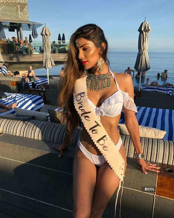 Nicole Faria's hot bachelorette party