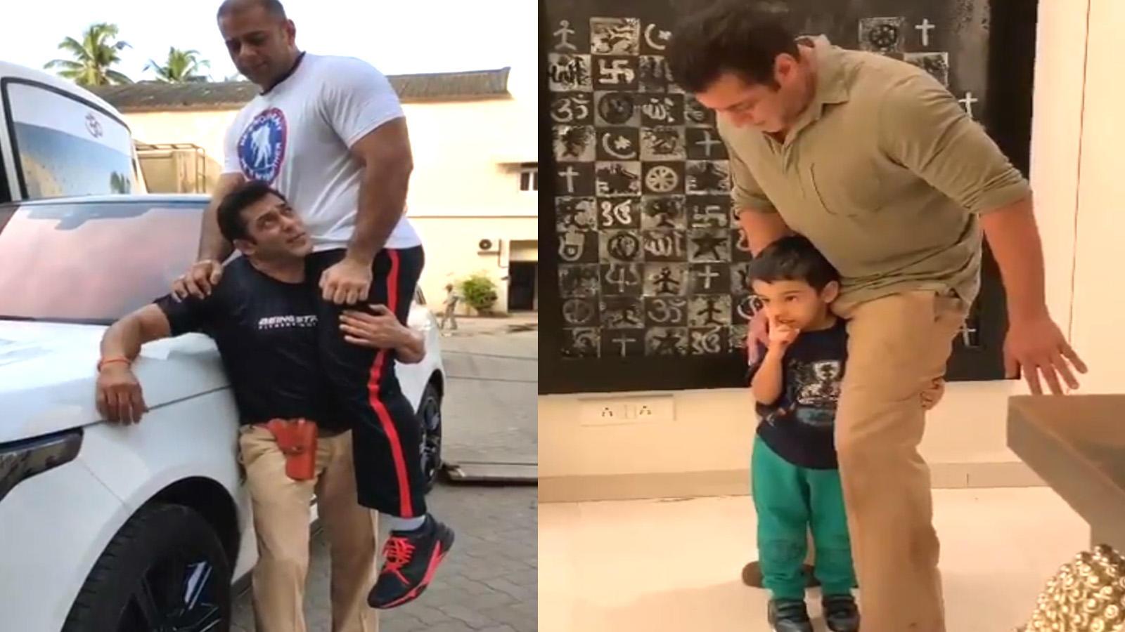 Watch! Salman Khan's hilarious videos with his nephews