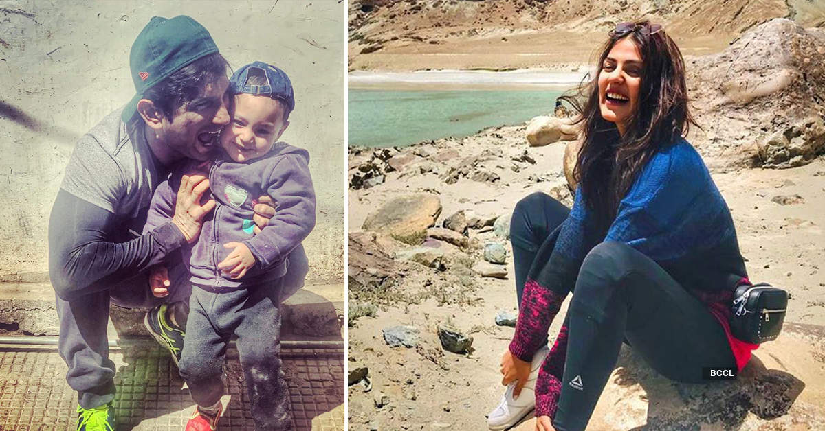 Rumoured couple Sushant Singh Rajput and Rhea Chakraborty's holiday pics from Ladakh
