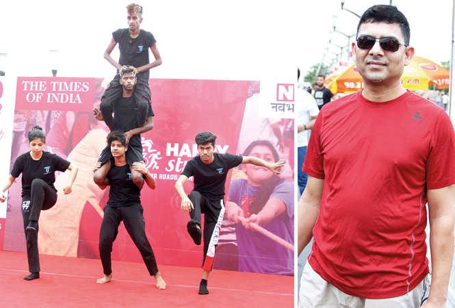 (L) A dance performance during Happy Streets (R) Anupam Jain (BCCL/ Aditya Yadav)