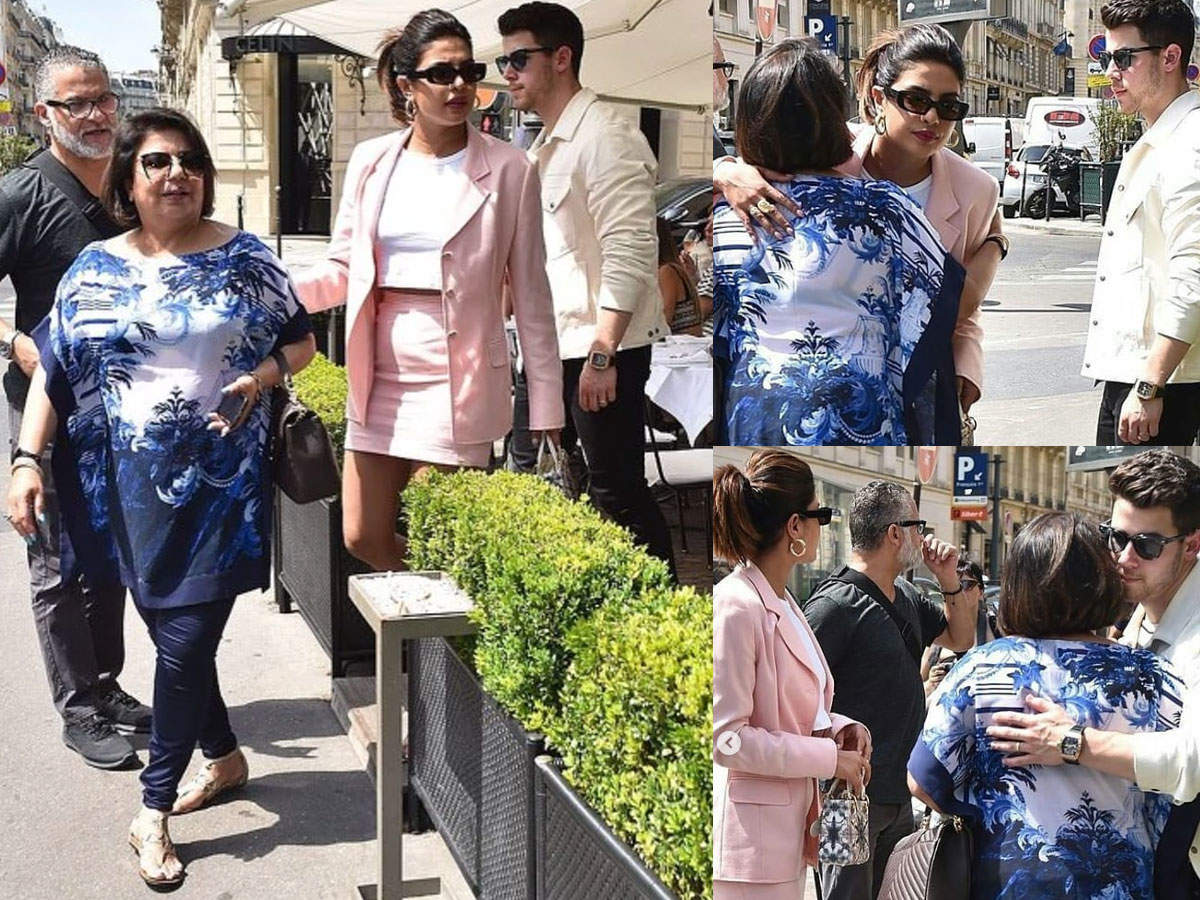 Photo: Madhu Chopra joins daughter Priyanka Chopra and Nick Jonas in Paris